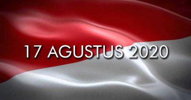 Kibaran Bendera kemerdekaan Republik Indonesia 17 Agustus 2020