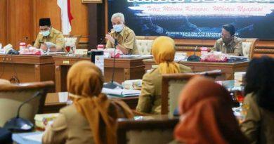 Ganjar Rapat Koordinasi Penanganan dan Pencegahan Covid-19 di Jawa Tengah