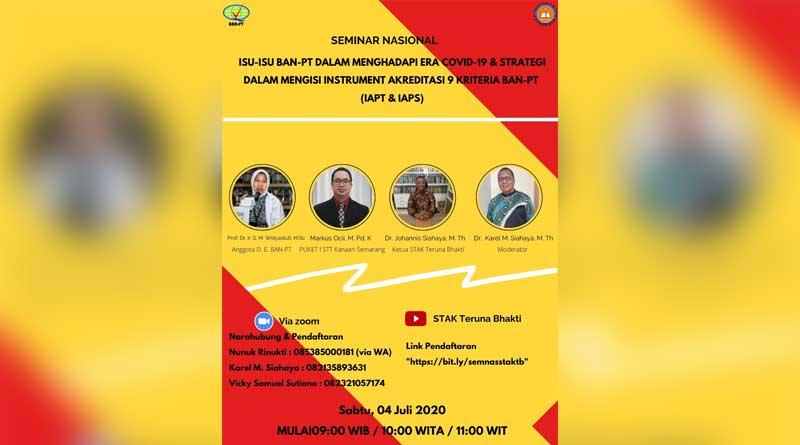 Poster Webunar BAN-PT STTKN Ungaran Dengan STAK Teruna Bhekti Yogyakarta