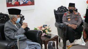Kapolri Listyo Sigit Prabowo kungi Ketua MUI Makasar
