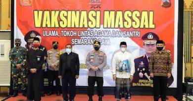 Kapolri Jenderal Listyo Sigit Prabowo tinjau vaksinasi di Masjid Agung Jawa Tengah