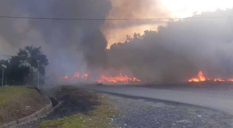 Kerusuhan di Kota Elelimg Wamena terkait pilkada-jurnaljateng